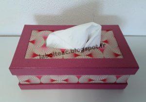 Boite à mouchoirs à onglets dépassants 9-Michèle P